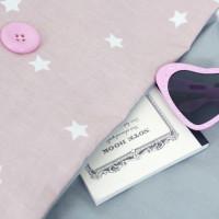 Sac à dos coton rose étoilé