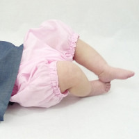 Culotte bloomer en voile de coton rose