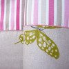 Tour de lit 50cm x 180cm, rayures et papillons