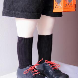 Chaussettes bébé épaisses -Marine-