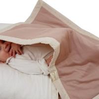 Couverture bébé jersey rose et petits pois charmants