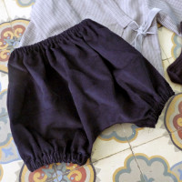 bloomer knickers velours bleu marine, 2 ans