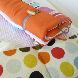 Tapis à langer bébé nomade, orange