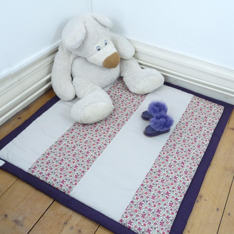 tapis d 39 veil liberty myrtille tout coton mademoiselle. Black Bedroom Furniture Sets. Home Design Ideas
